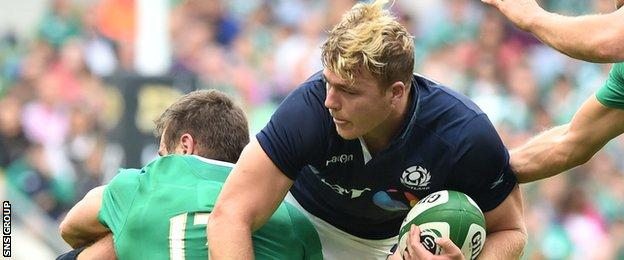 Dave Denton carried the ball with real intent for Scotland