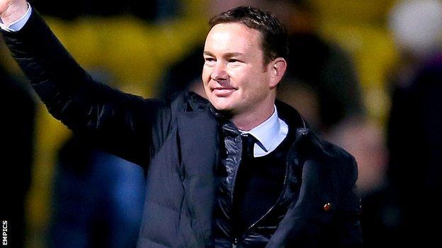 Plymouth Argyle manager Derek Adams
