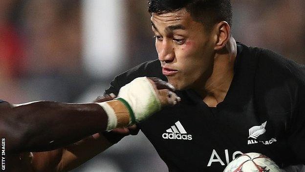 Rieko Ioane attacks for New Zealand