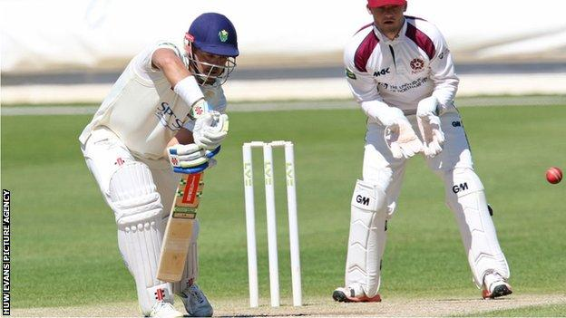 Jacques Rudolph plays a shot for Glamorgan