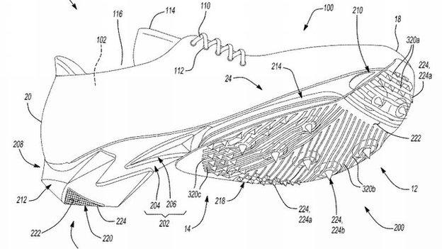 Nike patent application