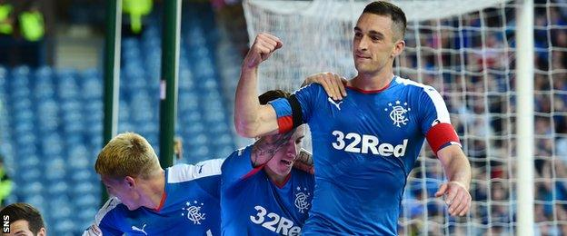 Lee Wallace got Rangers off and running with two first-half goals