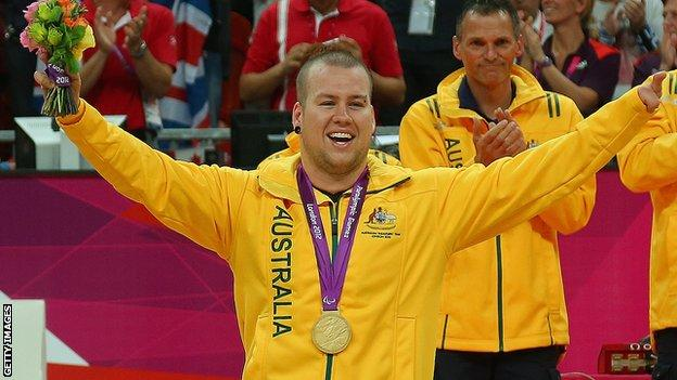 Ryley Batt with his 2012 Paralympic gold