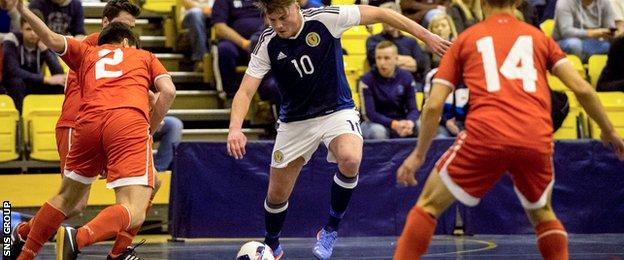Futsal is only just taking hold in Scotland