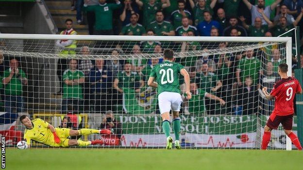 Peacock-Farrell saves Seferovic's penalty