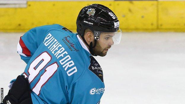 Dave Rutherford scored for Belfast but Cardiff ran out 5-3 winners