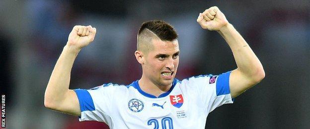 Slovakia winger Robert Mak