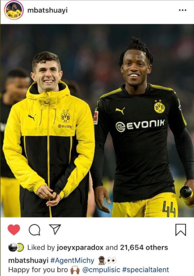 Michy Batshuayi posted on Instagram