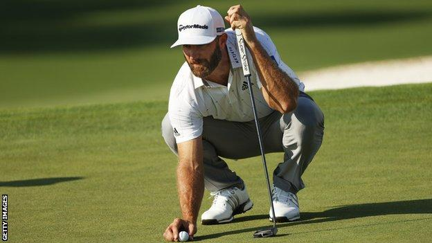 World number one Dustin Johnson