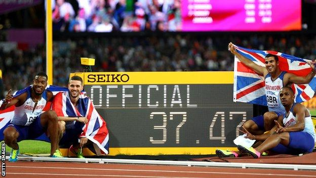 Britain's quartet celebrate gold