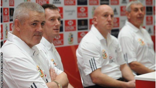 Warren Gatland (left) was the British and Lions forwards coach on the 2009 tour of South Africa