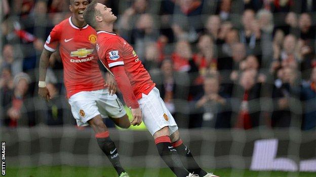 Wayne Rooney pretended to be knocked out after scoring against Tottenham in 2015