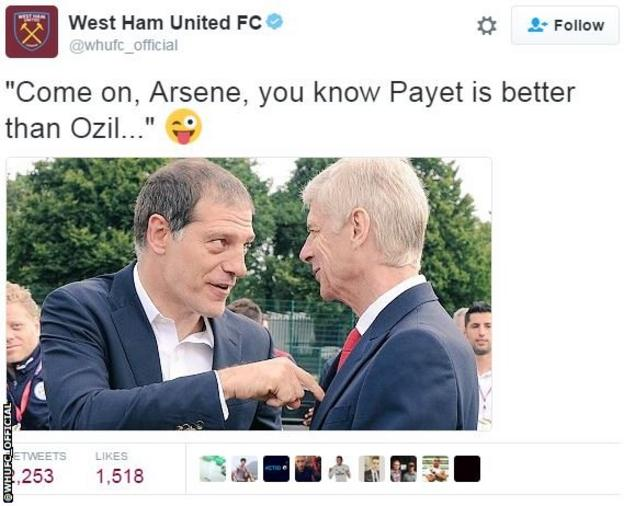 Slaven Bilic Arsene Wenger