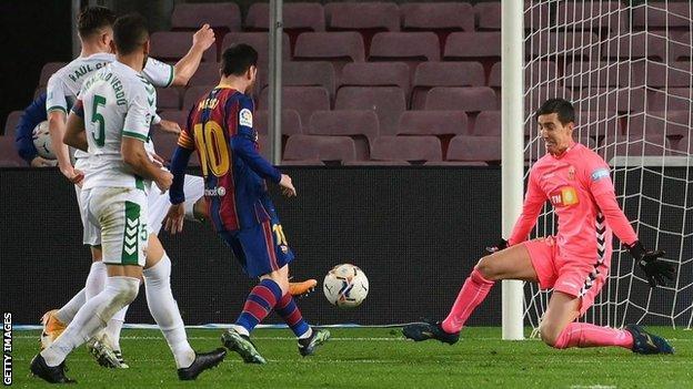 Lionel Messi has now scored 18 goals in La Liga this season