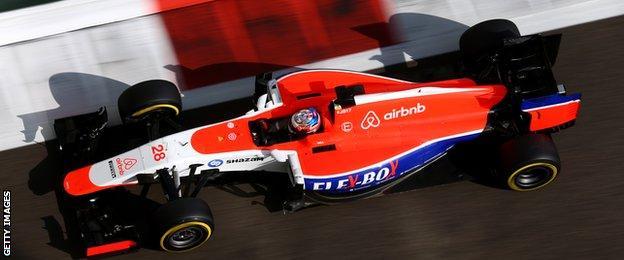 Manor F1 Team's British driver Will Stevens