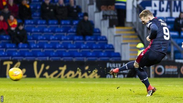 Billy Mckay slots a penalty for Inverness