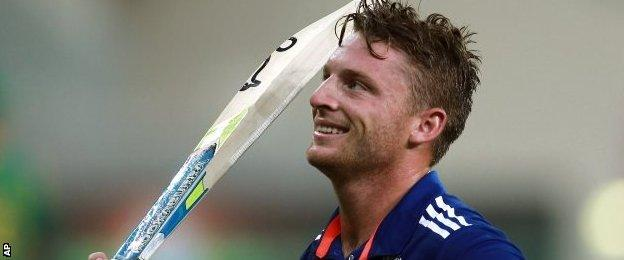 England's Jos Buttler scored a 46-ball century in the final one-day international against Pakistan