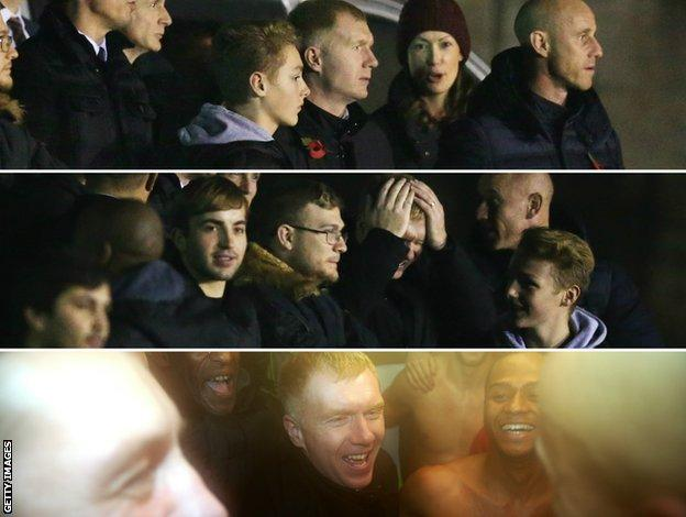 Paul Scholes watches on as Salford City joint-owner