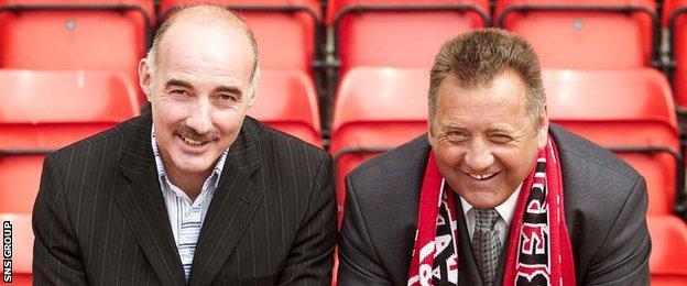 Willie Miller and Jimmy Calderwood back in 2004