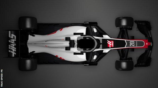Haas VF-18 F1 car for 2018