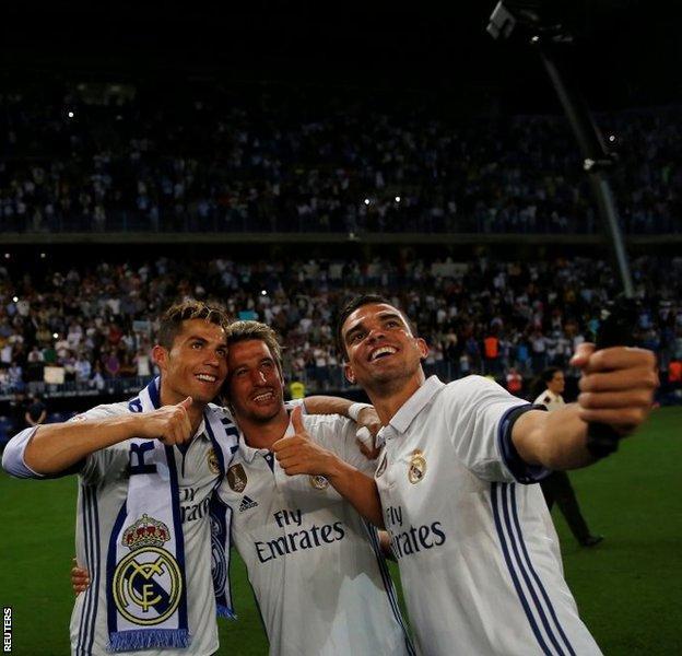 Cristiano Ronaldo, Fabio Coentrao and Pepe
