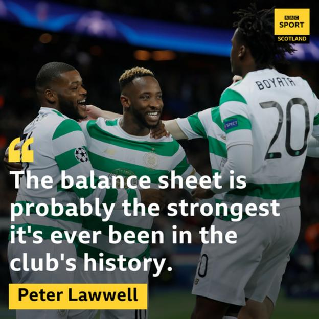 Peter Lawwell quote about Celtic's finances
