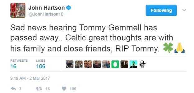 John Hartson tweet