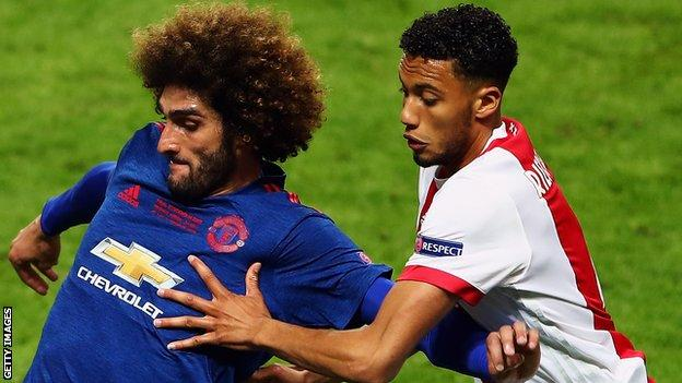 Jairo Riedewald in action in the 2017 Europa League final against Manchester United
