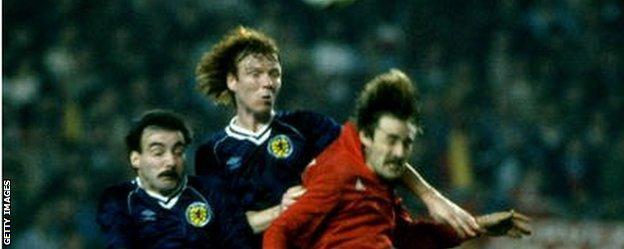 Miller and McLeish played over 50 Scotland internationals together