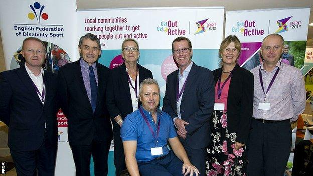 The consortium partners at the Get Out Get Active conference in Manchester