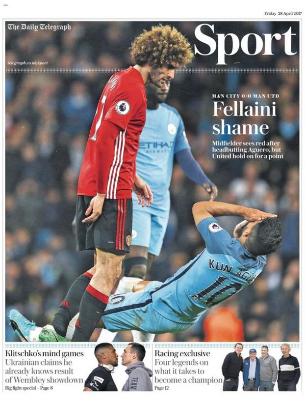 Friday's Daily Telegraph back page