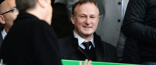 Northern Ireland manager Michael O'Neill at Celtic Park