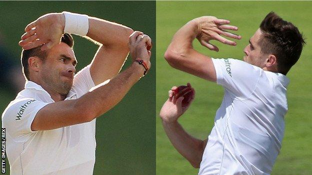 Jimmy Anderson and Chris Woakes