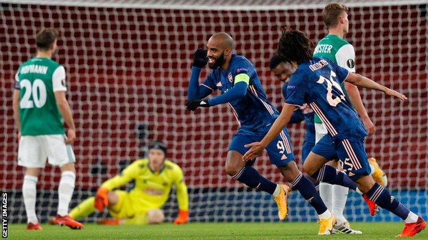 Europa League Report (2020): 'Special night' as Arsenal win in front of 2,000 fans