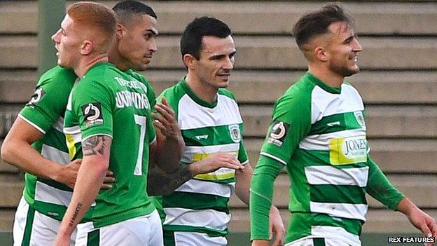 YeovilTown are currently fourth in the National League