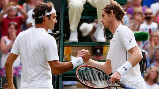 Roger Federer beat Andy Murray at Wimbledon