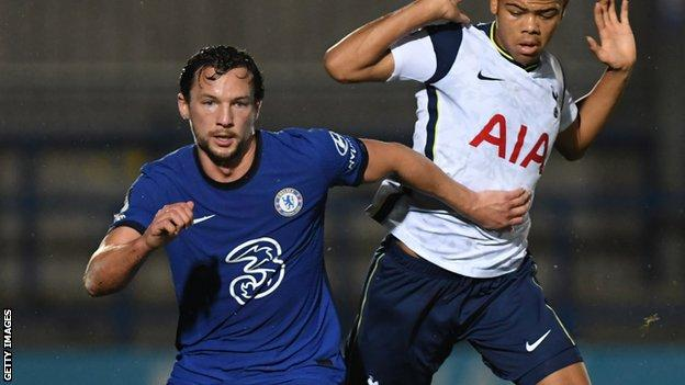 Danny Drinkwater in action for Chelsea's in the Premier League 2 competition