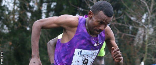 Aweke Ayalew was the men's winner at Greenmount College