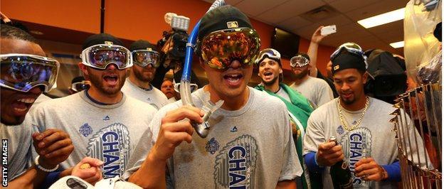 Kansas City Royals players celebrate
