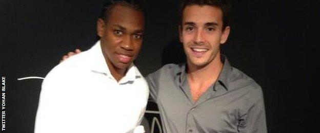 Yohan Blake posted a photo of him with Bianchi