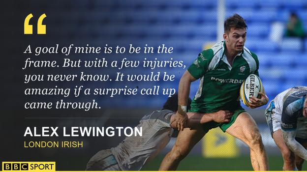 Alex Lewington on England chances