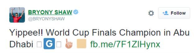 Bryony Shaw tweet