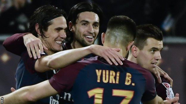 Paris St-Germain win French League Cup final