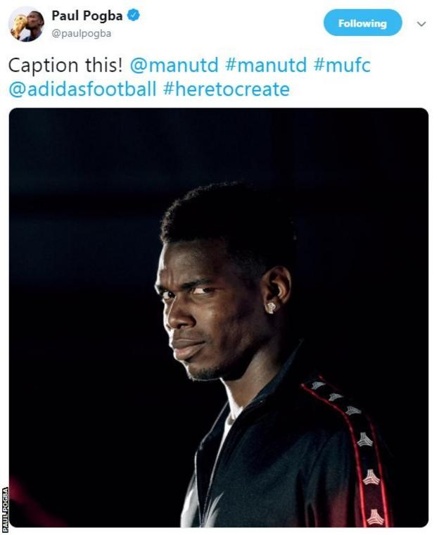 Paul Pogba tweeted 'caption this' before deleted his tweet