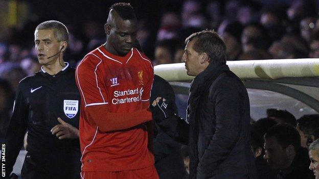 Mario Balotelli and Liverpool manager Brendan Rodgers