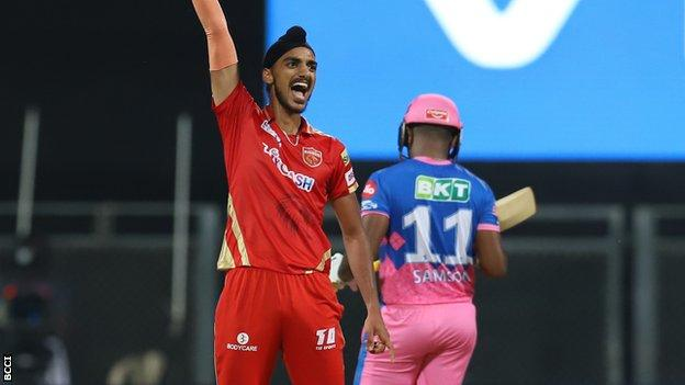Arshdeep Singh celebrates