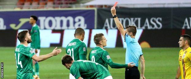 Magennis's red card changed the dynamic of the match