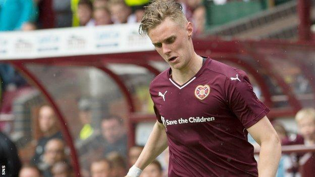 Kevin McHattie made 16 appearances for Hearts in their 2014-15 Championship title-winning season