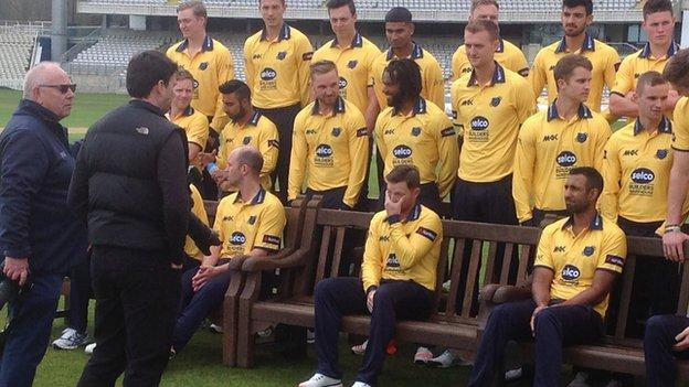 Ian Bell at Warwickshire's annual photocall