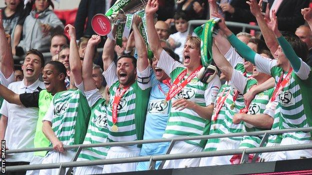 Yeovil beat Brentford in the 2013 League One play-off final